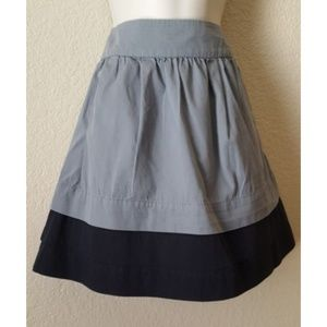 Old Navy Gray Black Tiered Short A-Line Skirt 2